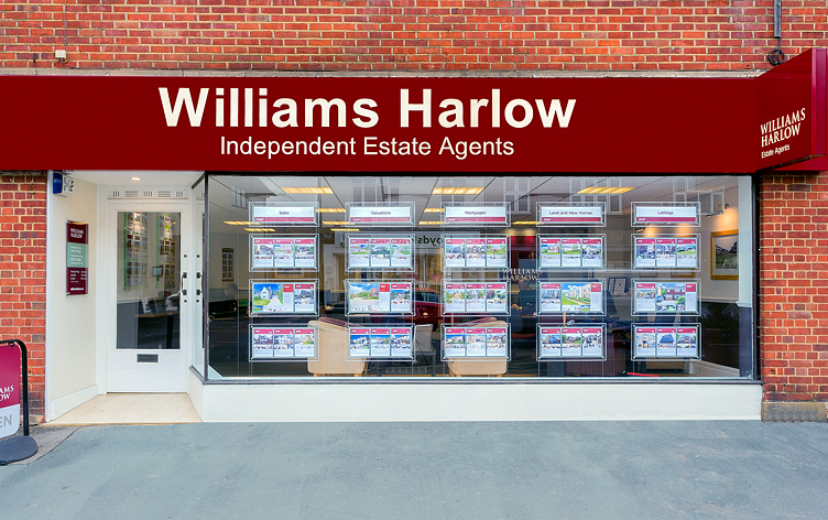Exterior of Williams Harlow Estate Agents in Banstead.