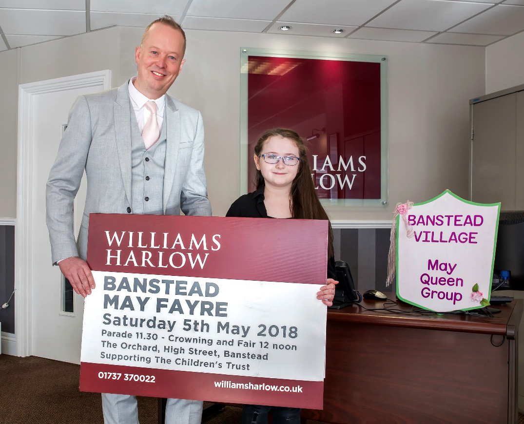 Williams Harlow Estate Agents in Banstead & Cheam sponsors of the Banstead May Fair.